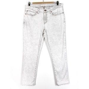 Eileen Fisher 12 Acid Wash Grey Wash Pants Skinny